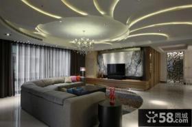 现代家装时尚客厅吊顶图片大全
