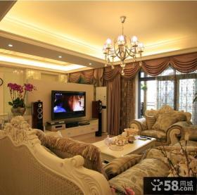 奢华欧式风格客厅装修效果图欣赏