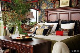 美式乡村风格样板间卧室效果图