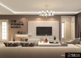 优质现代风格客厅电视背景墙装修效果图