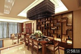 红木打造的中式装修效果图 客厅沙发背景墙效果图