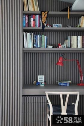 日式加北欧混搭风格家庭办公室设计