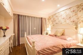 美式田园温馨卧室窗帘