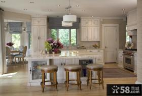 简欧风格白色厨房装修效果图大全2012图片
