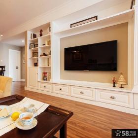 现代美式家装电视背景墙图片