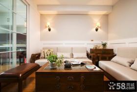 新中式风格客厅沙发布置效果图片