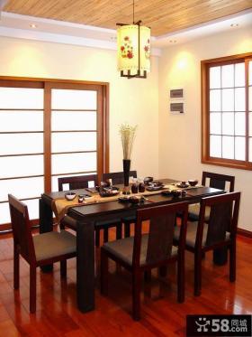 中式风格名古屋别墅餐厅装修设计效果图